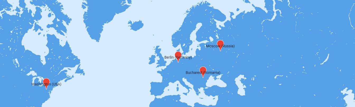 La geolocalización de sus servidores.