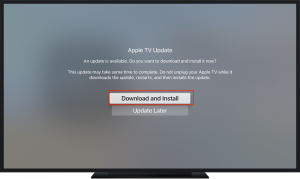 vpn kan een fout in Apple TV te genereren