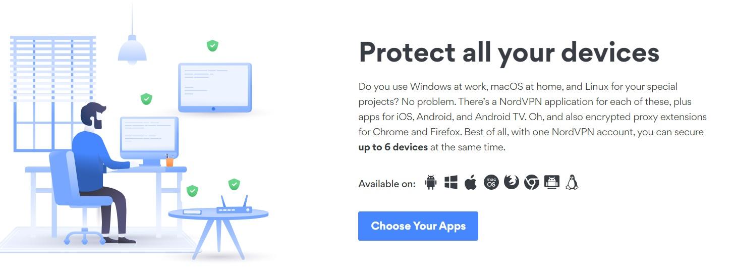Protege todos tus dipositivos con Nord VPN: Andorid, Windows, IOs...