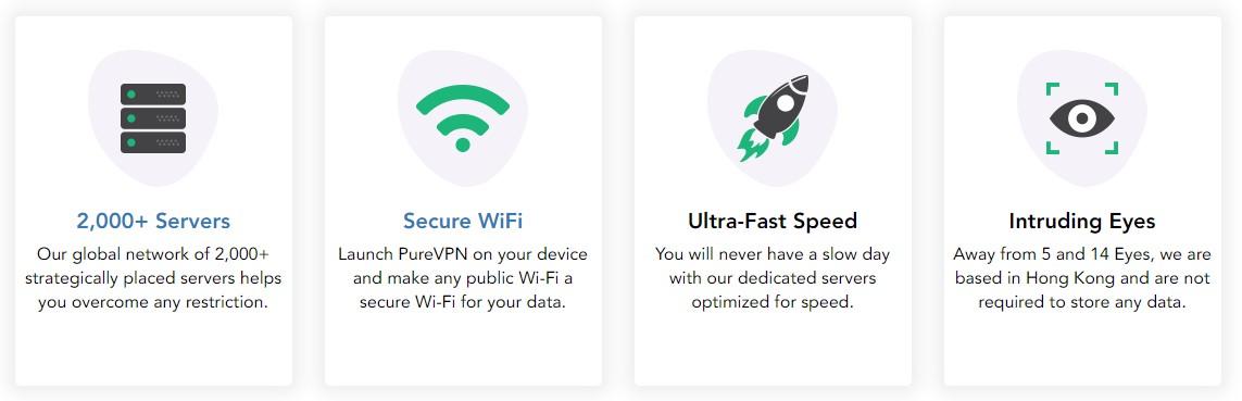 pure vpn ha un'eccellente sicurezza per i vostri dispositivi
