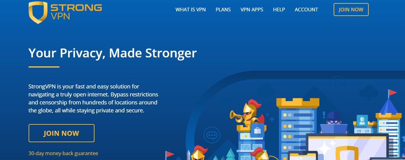 Features Strong VPN service
