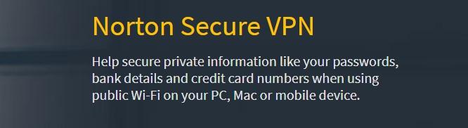 Norton VPN é uma das melhores opções para a navegação segura.