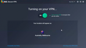 AVG VPN allows you to change the IP address easily.