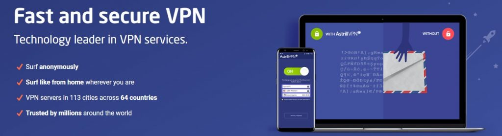 Astrill VPN is one of the best options for safe surfing.