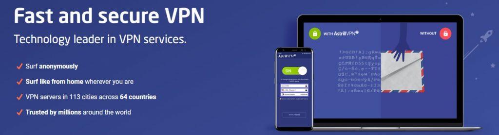 Astrill VPN является одним из лучших вариантов для безопасного серфинга.