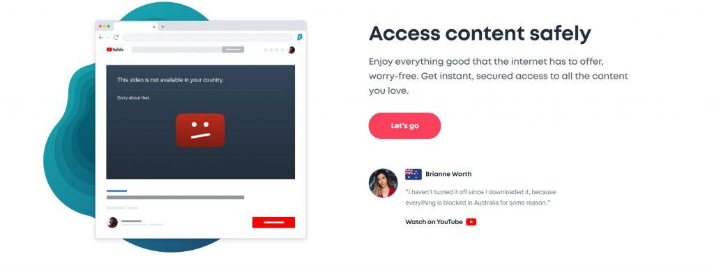 Urfshark te permite conectarte a casi cualquier parte del mundo