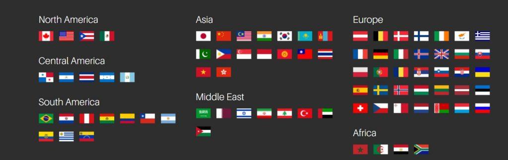 Este VPn ofrece gran cantidad de países