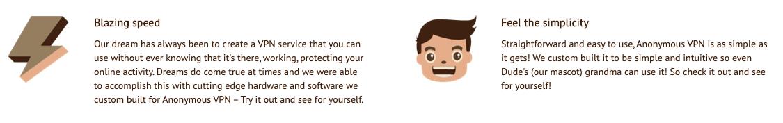 Es un VPN muy sencillo de usar
