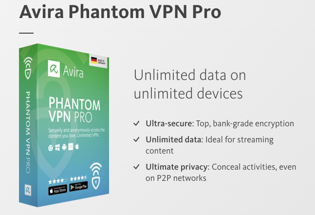 Why choose Avira Phantom VPN