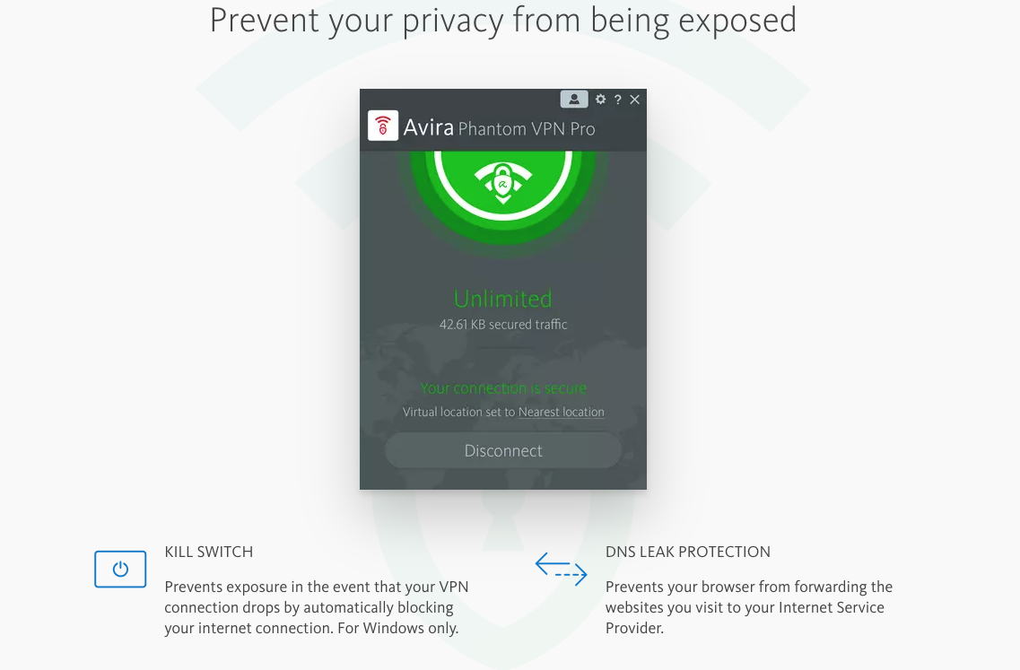 Empêche votre vie privée est exposée à VPN Phantom Pro