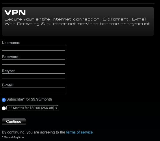 Instalar o VPN.