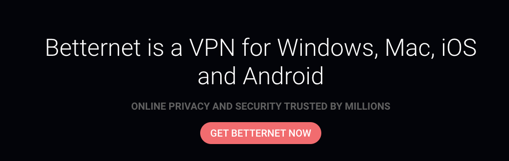 This VPN service allows you access to different pages.