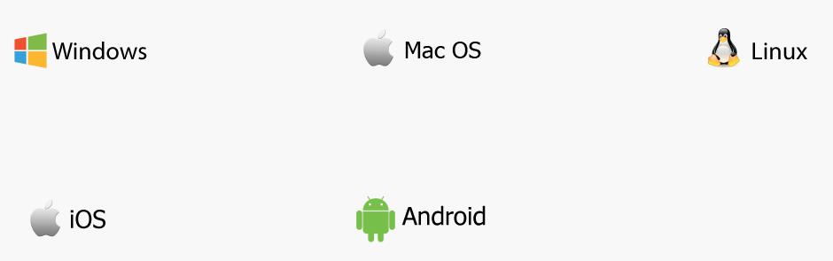Jest kompatybilny z systemem iOS, Android i mogą pracować z systemem Windows, Linux i systemów operacyjnych Mac.