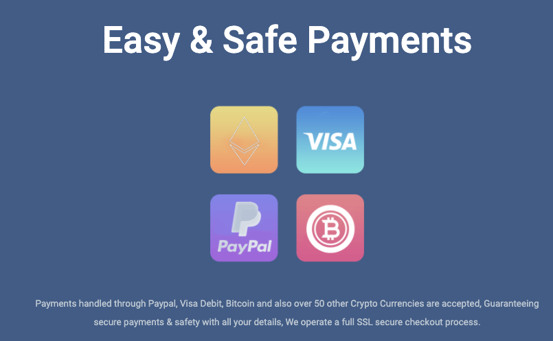 Payment methods Digibit VPN