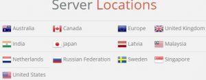 Países en que Finch VPN opera