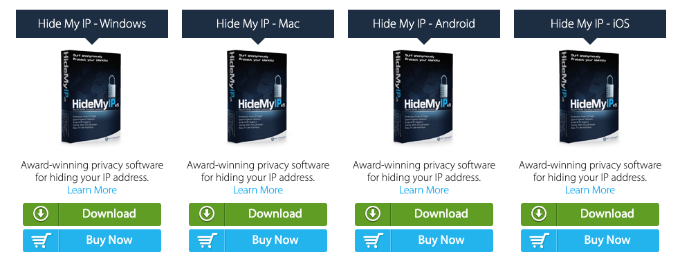 Hide My IP provides applications for Mac, Windows, Android and iOS