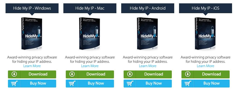 Hide My IP Proporciona aplicaciones para Mac, Windows, Android e iOS