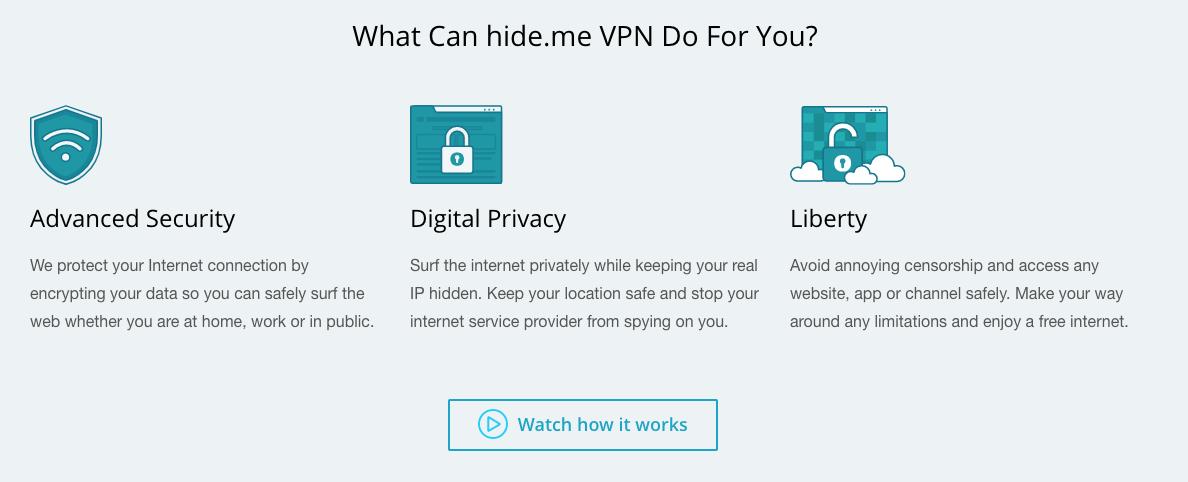 L'utilisation de ce service de sécurité VPN