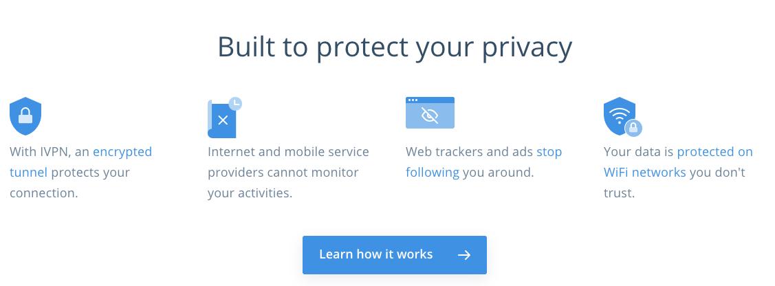 Construida para proteger tu privacidad