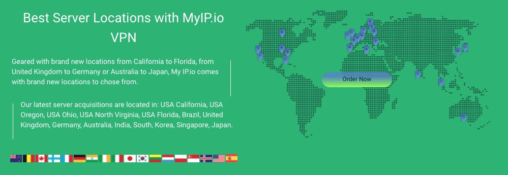 Myip VPN con servidor español, tiene una cantidad de 26 servidores en 22 países.