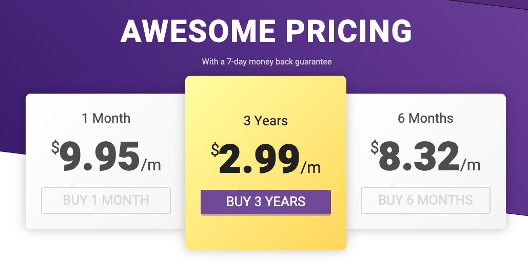 Precios y planes de VPNSecure