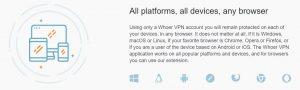 Dispositivos compatible con Whoer vpn