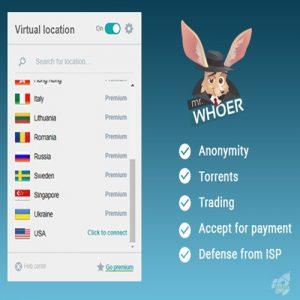 Países en los que opera Whoer vpn