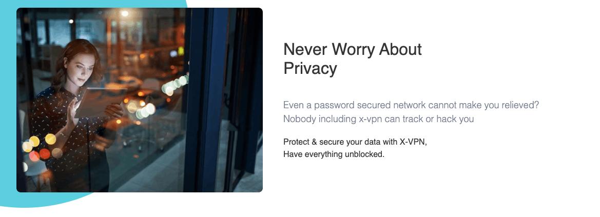 Privacidad que brinda XVPN