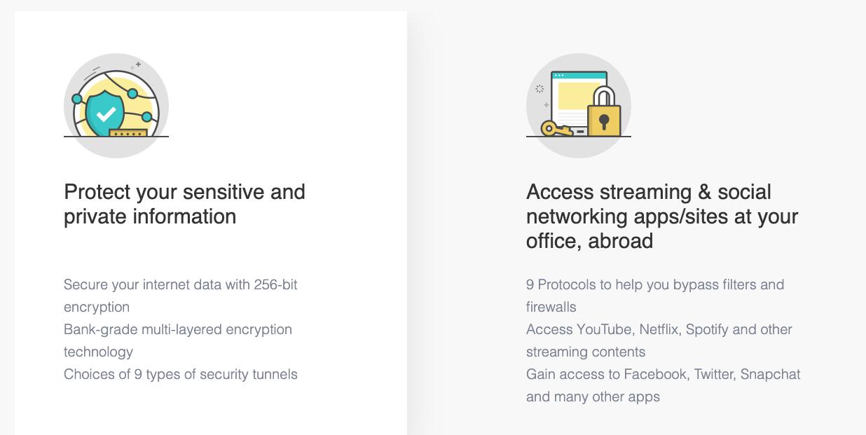 Seguridad de este VPN