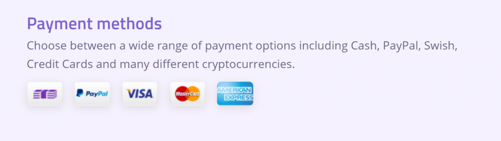 Podrás pagar Azire VPN con muchos métodos diferentes