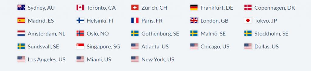 OVPN está disponible en muchos países