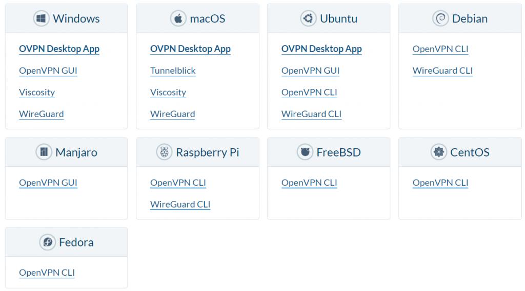 OVPN доступен на нескольких устройствах.