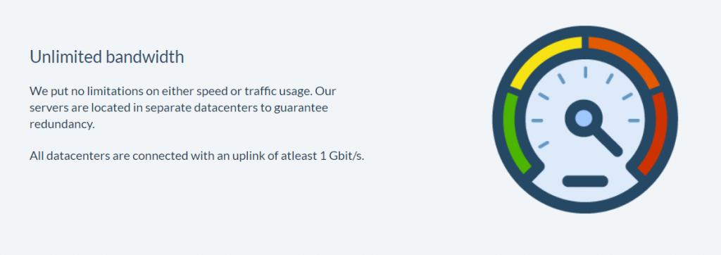 OVPN tiene un ancho de banda ilimitado