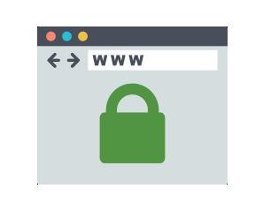 vpn Sicherheitsschloss Bildschirm Navigator-Browser-Adress