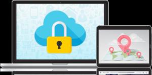 vpn Cloud Cloud Bildschirm Tablet-Computer
