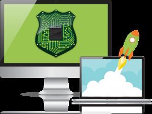 VPN prędkość rakiety cyfrowy komputer prywatności