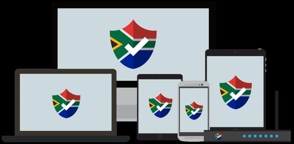 El VPN para Sudáfrica te ofrece toda la seguridad.